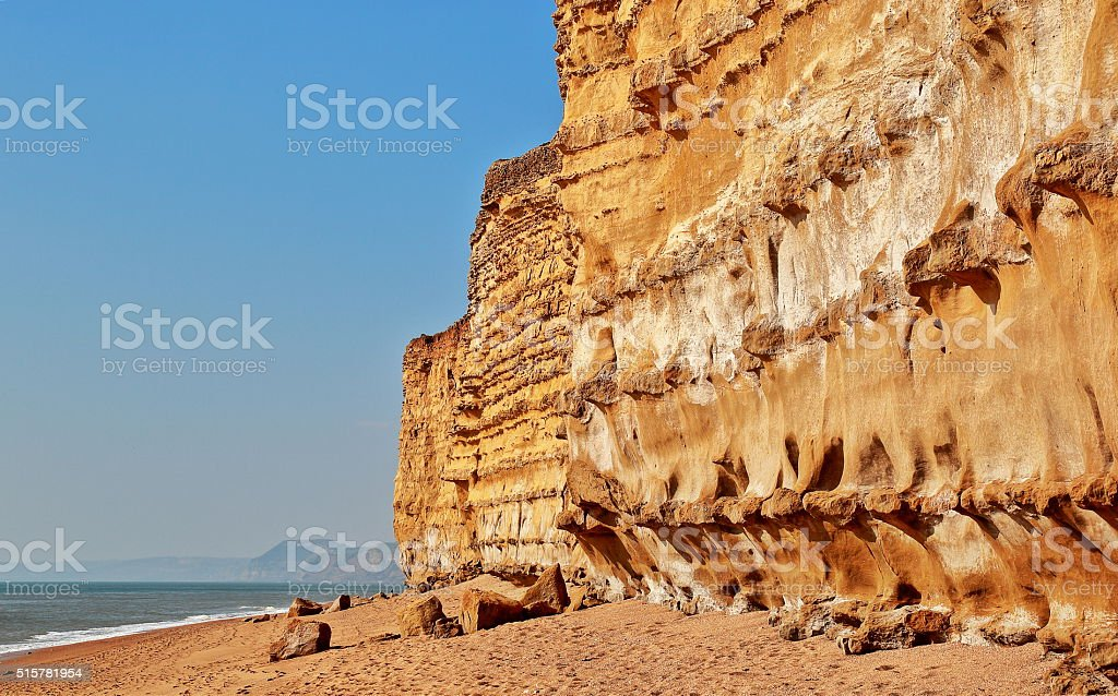 Burton Bradstock Cliffs stock photo
