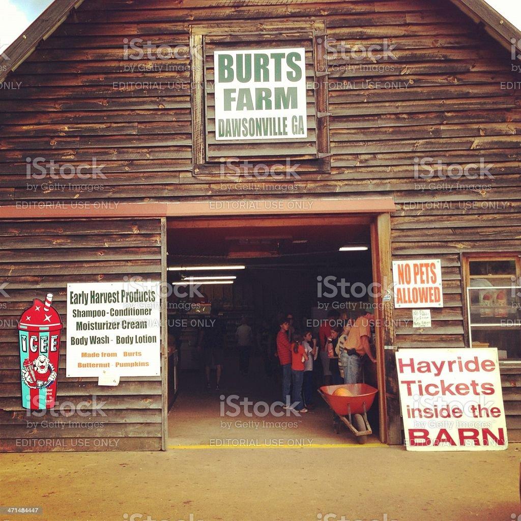 Burts Farm stock photo