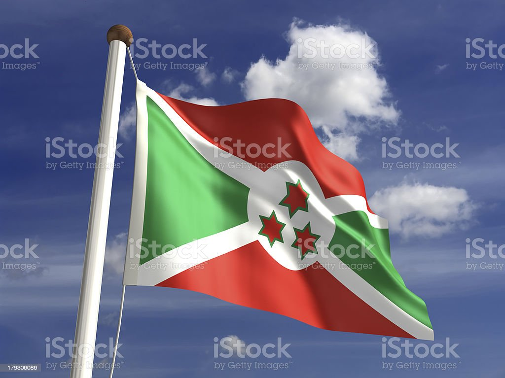 Burundi flag (with clipping path) stock photo