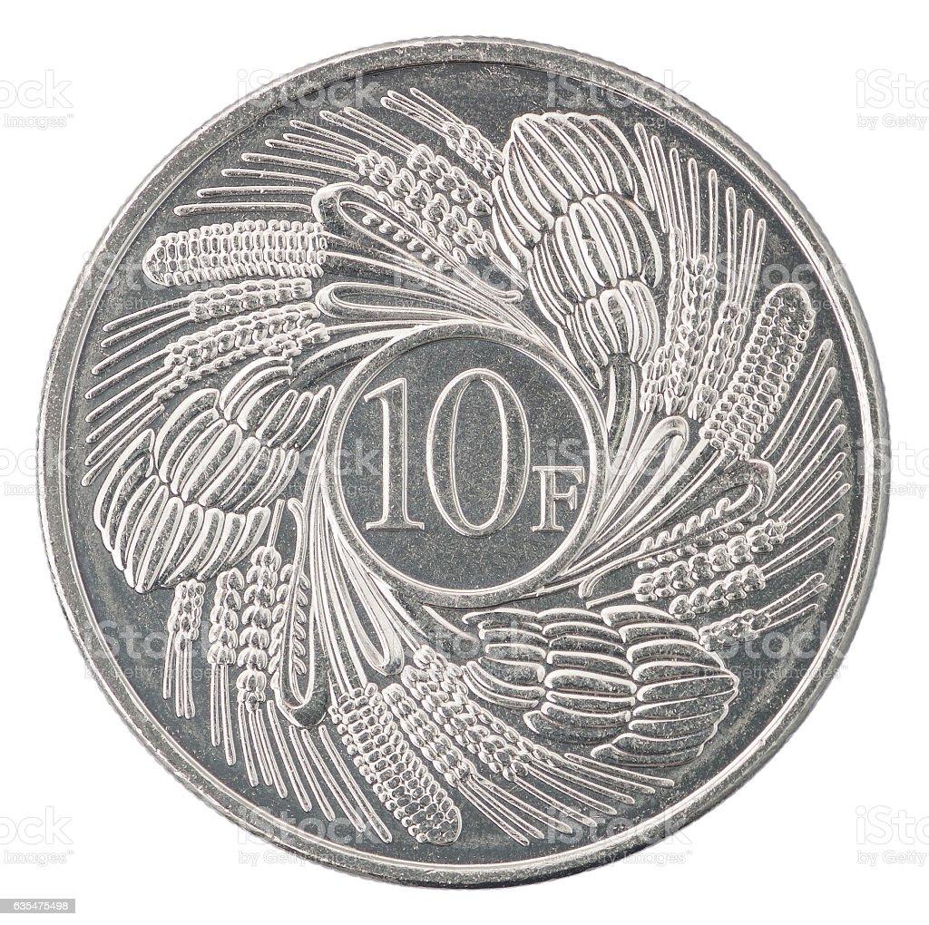 Burundi Franc coin stock photo