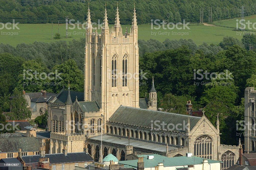 Bury St Edmunds cathedral stock photo