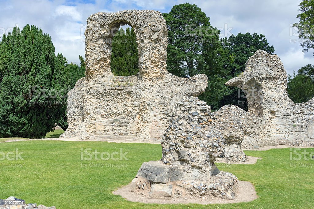 Bury St Edmunds in Suffolk stock photo