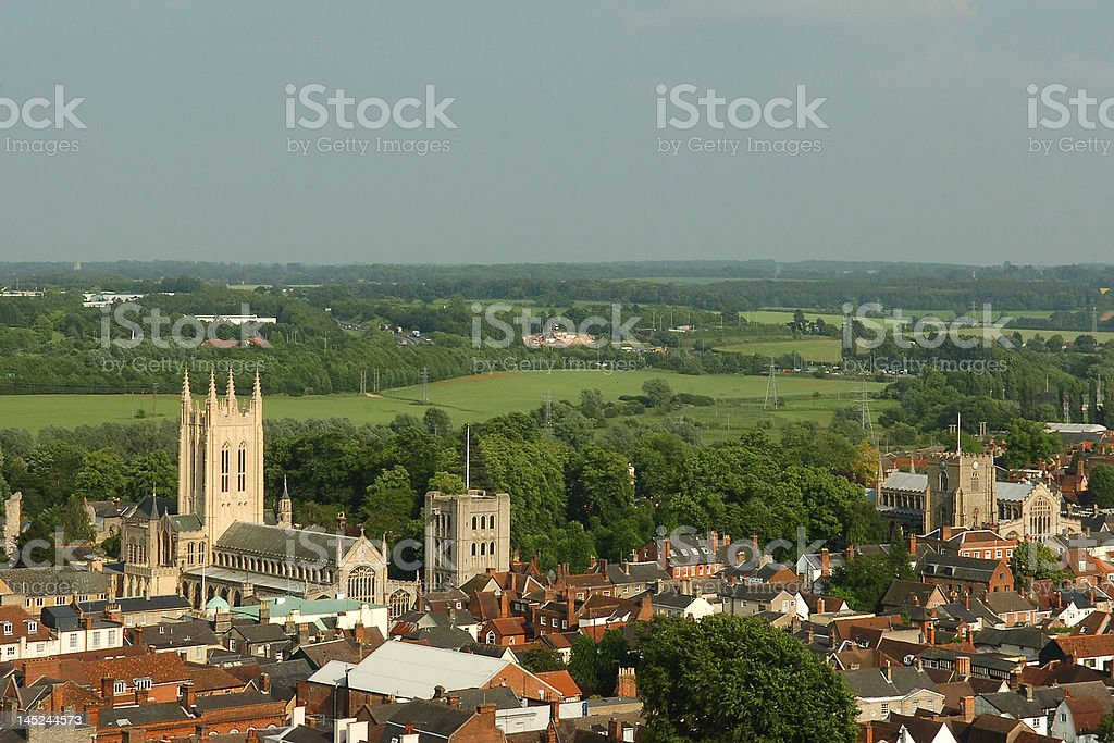 Bury St Edmunds Suffolk stock photo