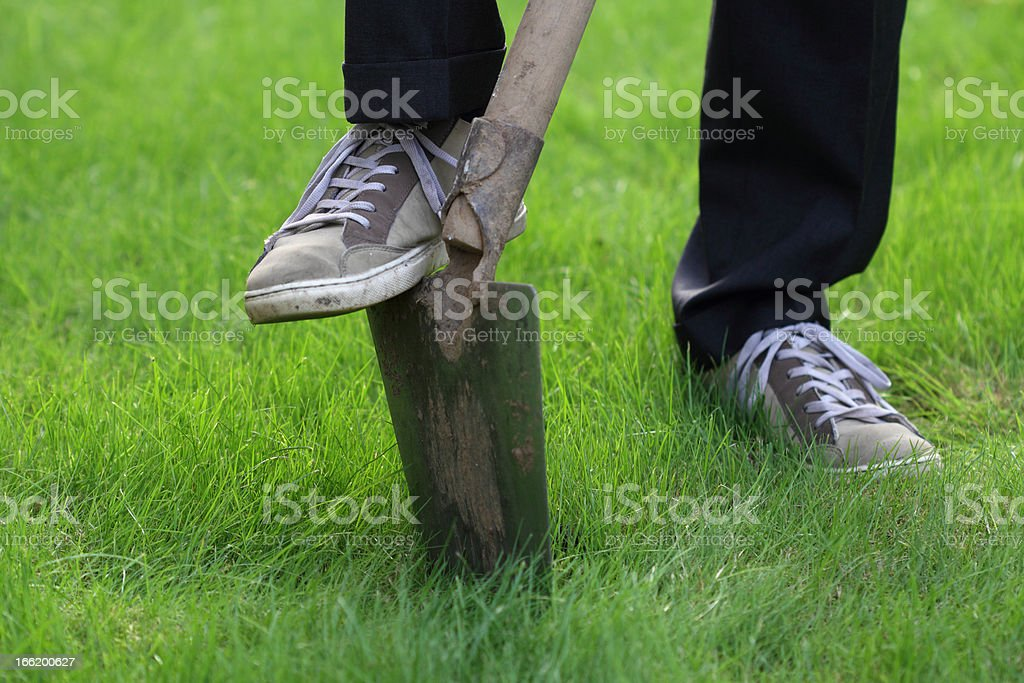 Burying something stock photo