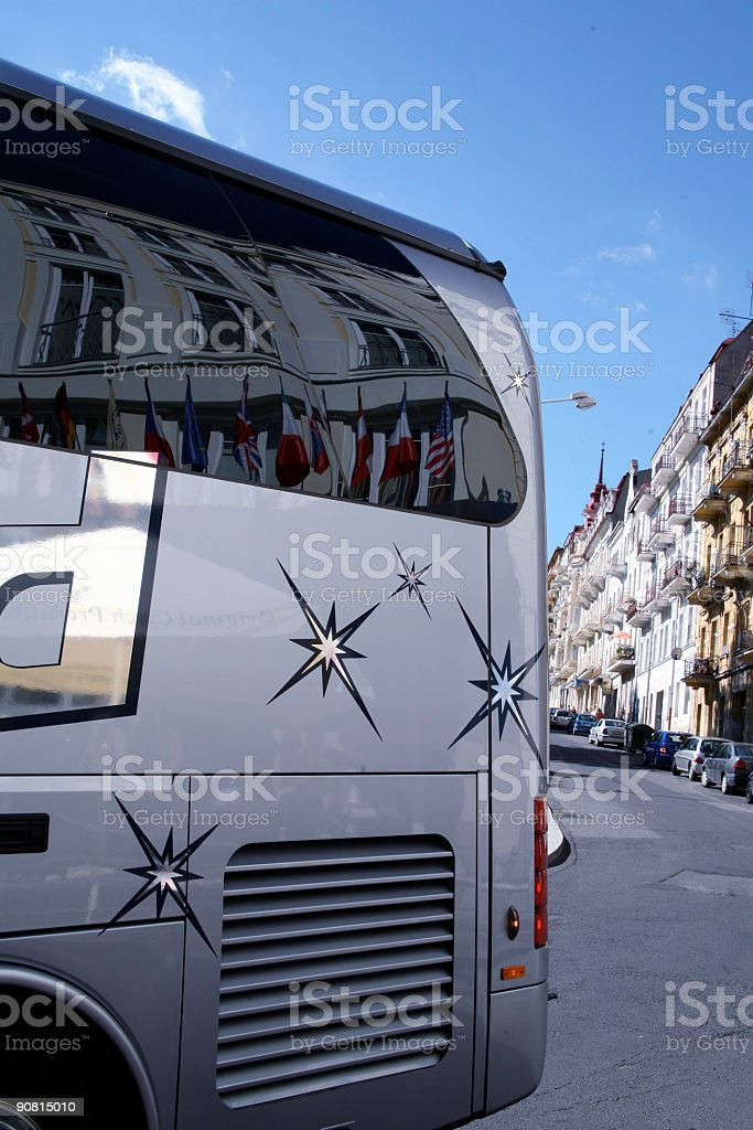 Bus departure royalty-free stock photo