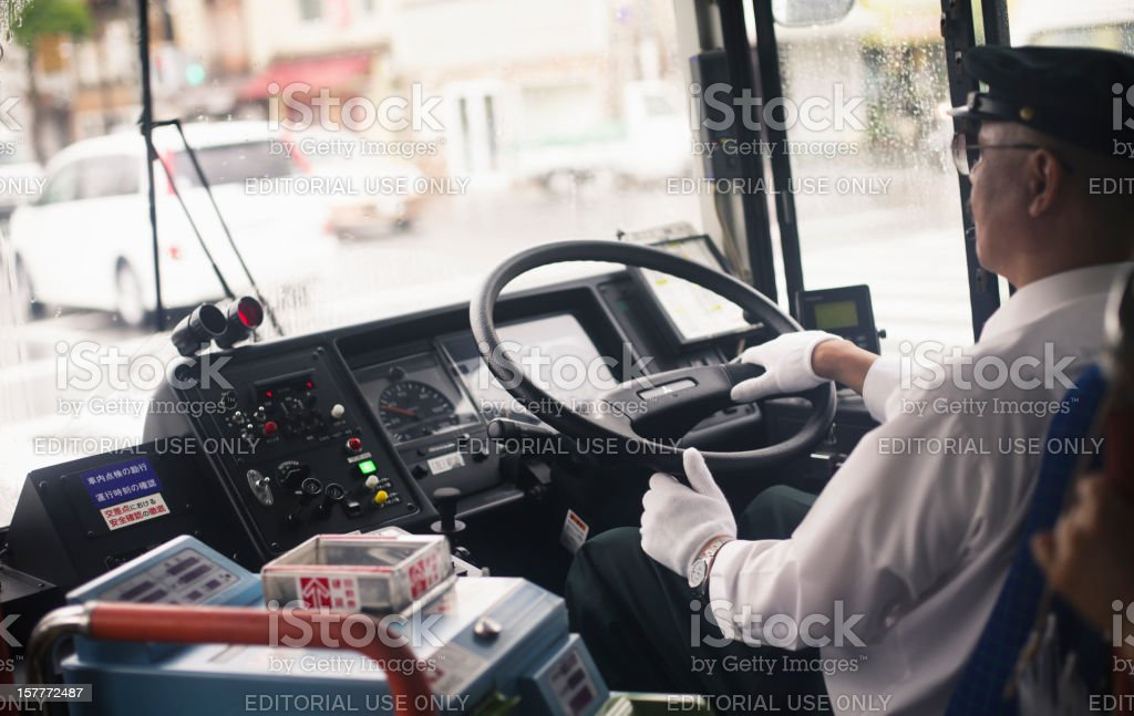 Bus Driver in Kyoto stock photo