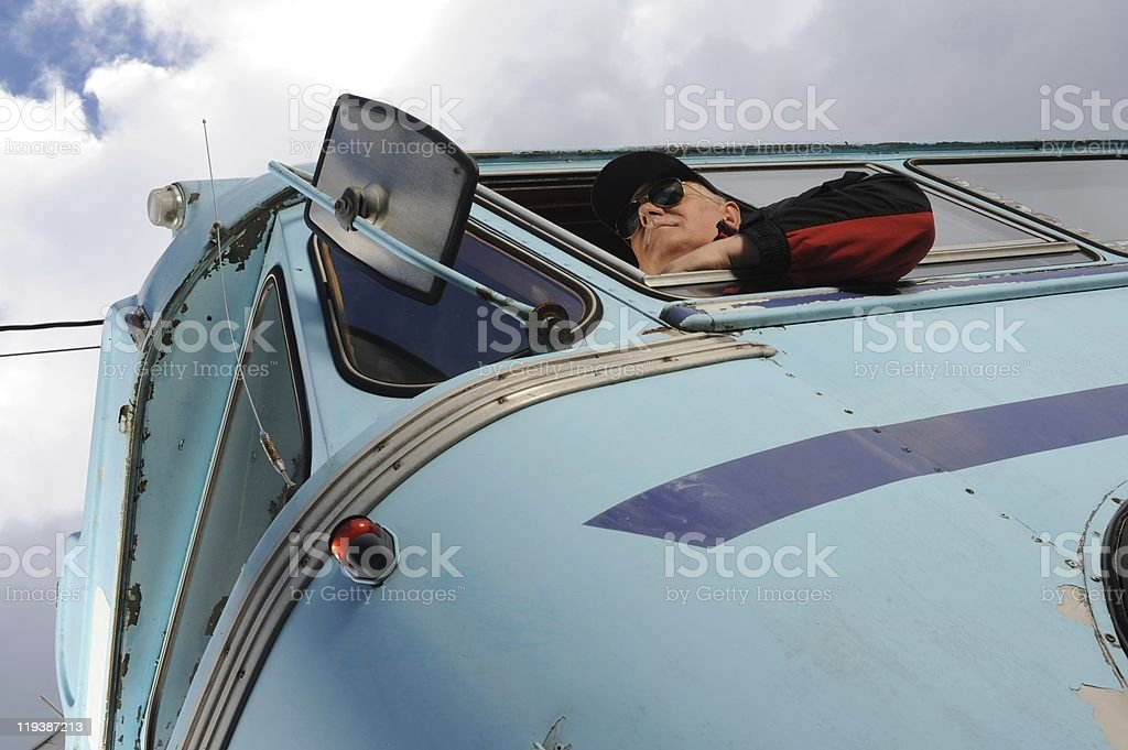 Bus driver stock photo