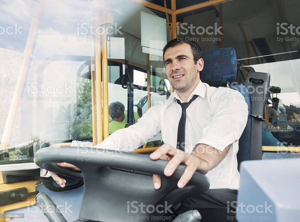 Bus driver. stock photo