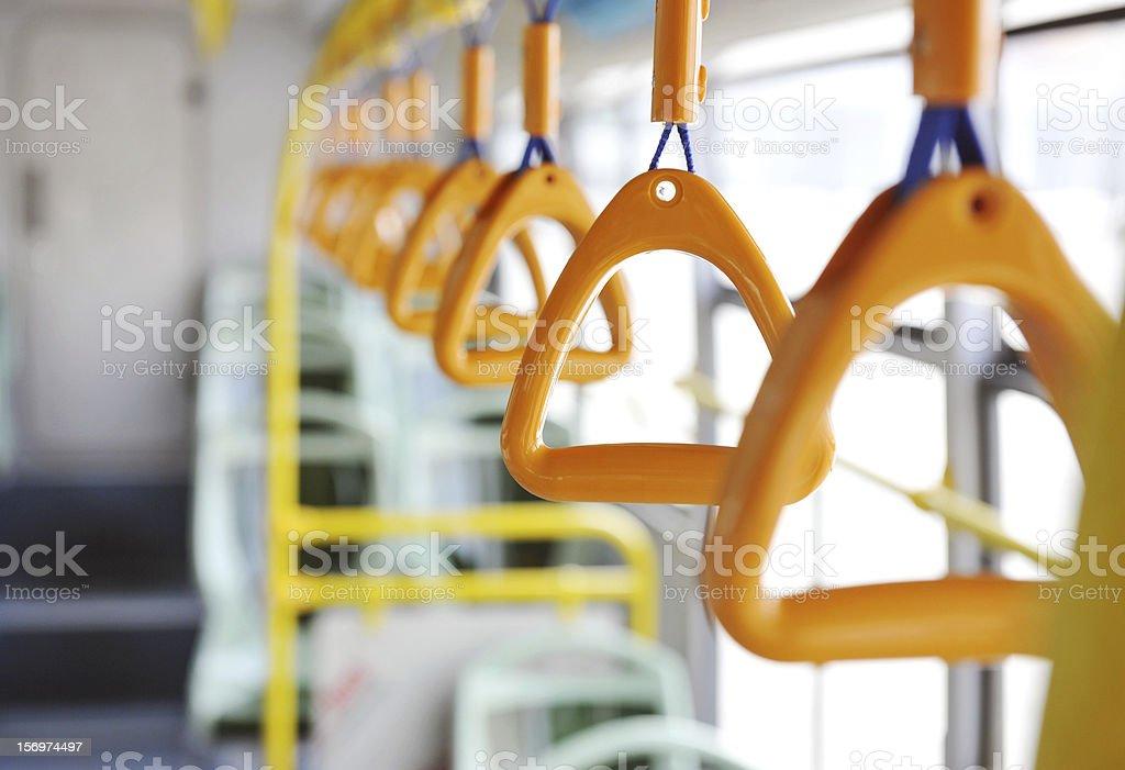 bus handle stock photo