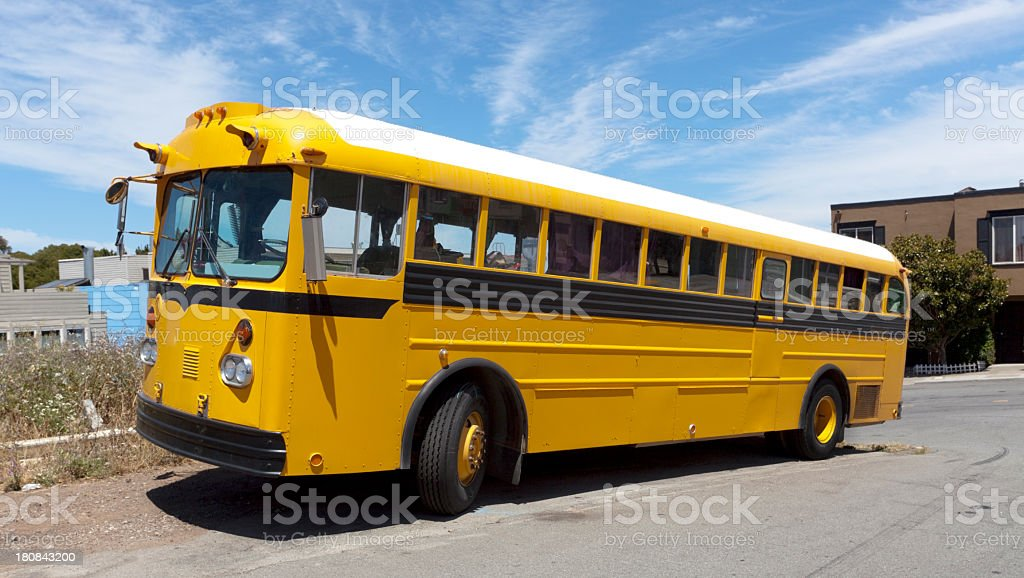 Bus Home royalty-free stock photo