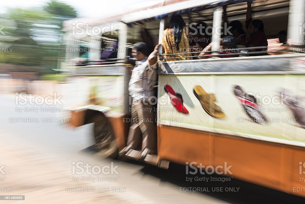 Bus in Alappuzha royalty-free stock photo