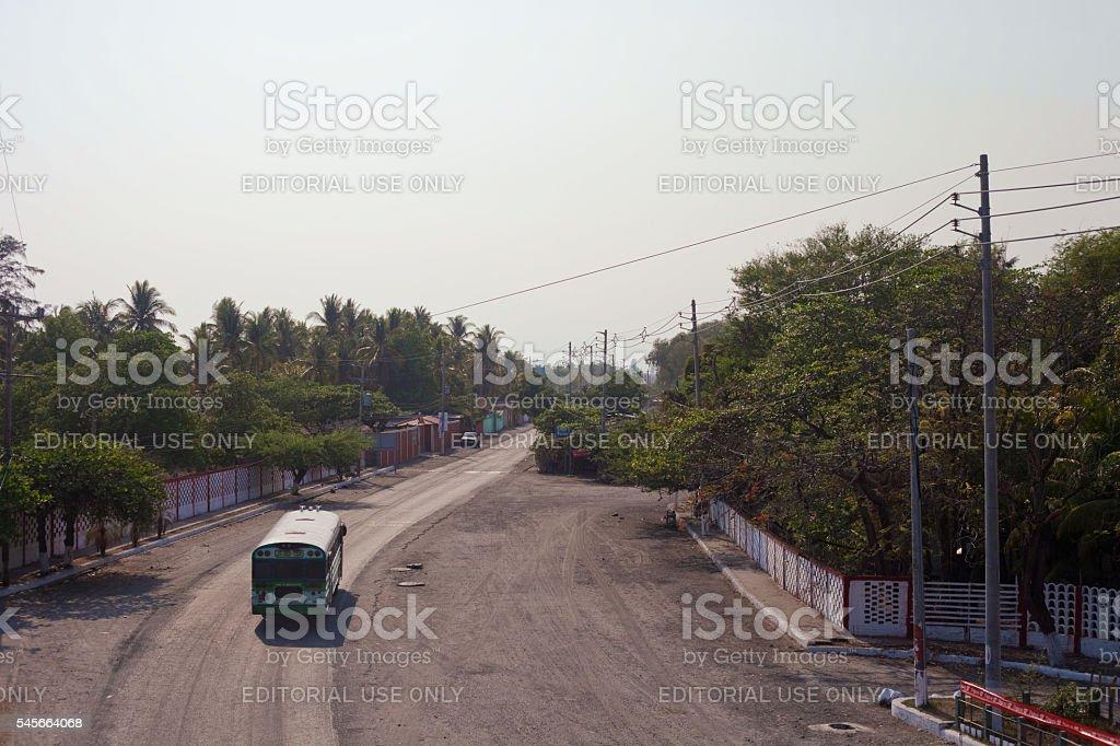 Bus in El Salvador stock photo