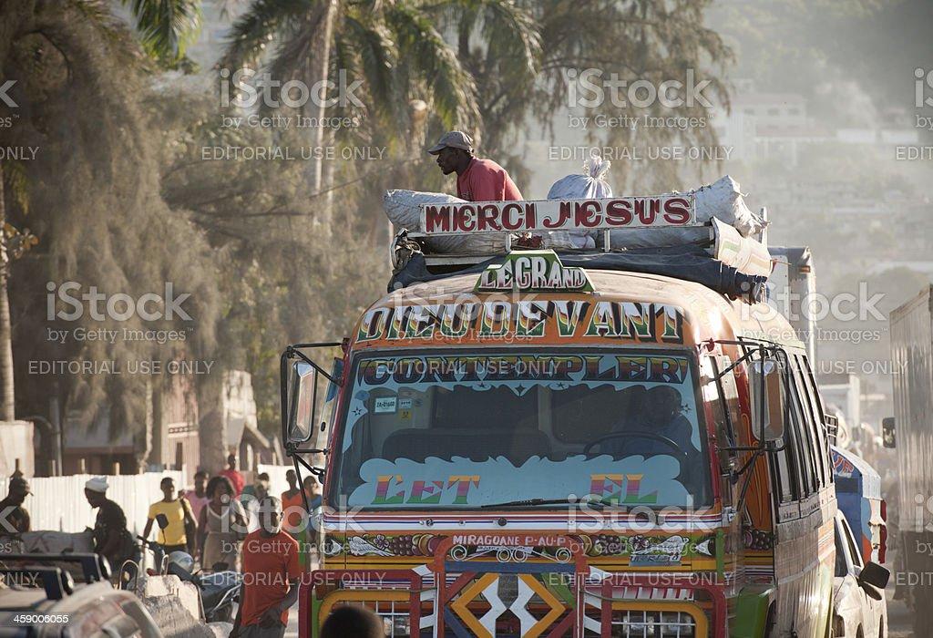 Bus in Haiti royalty-free stock photo