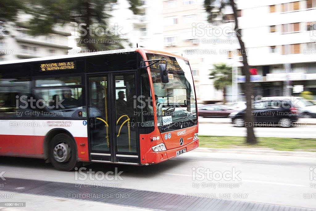 Bus in izmir royalty-free stock photo