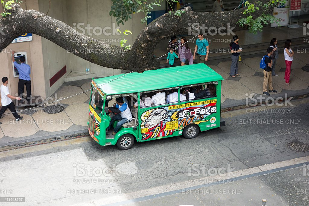 Bus in Metro Manila royalty-free stock photo