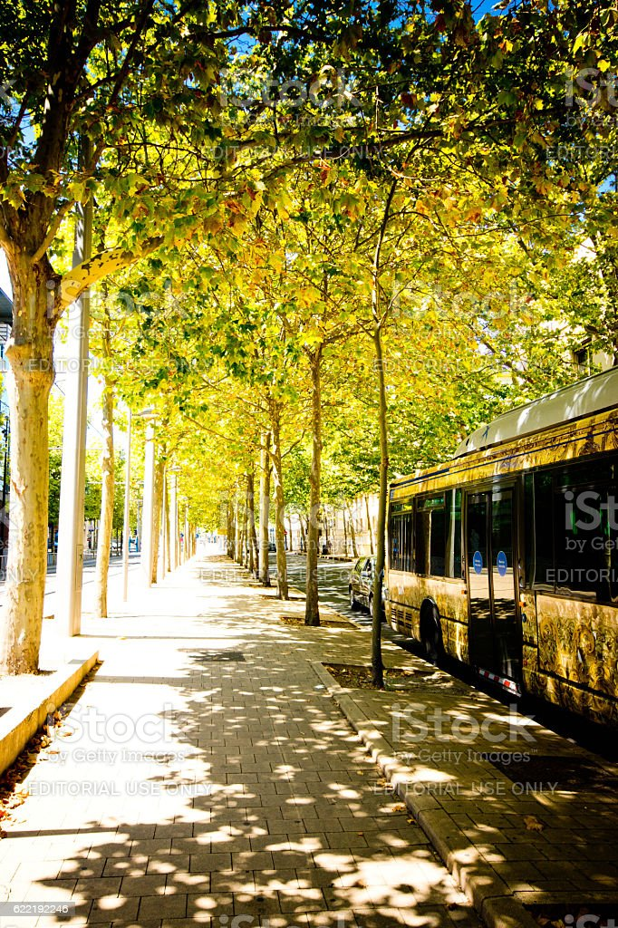 Bus in Montpellier stock photo