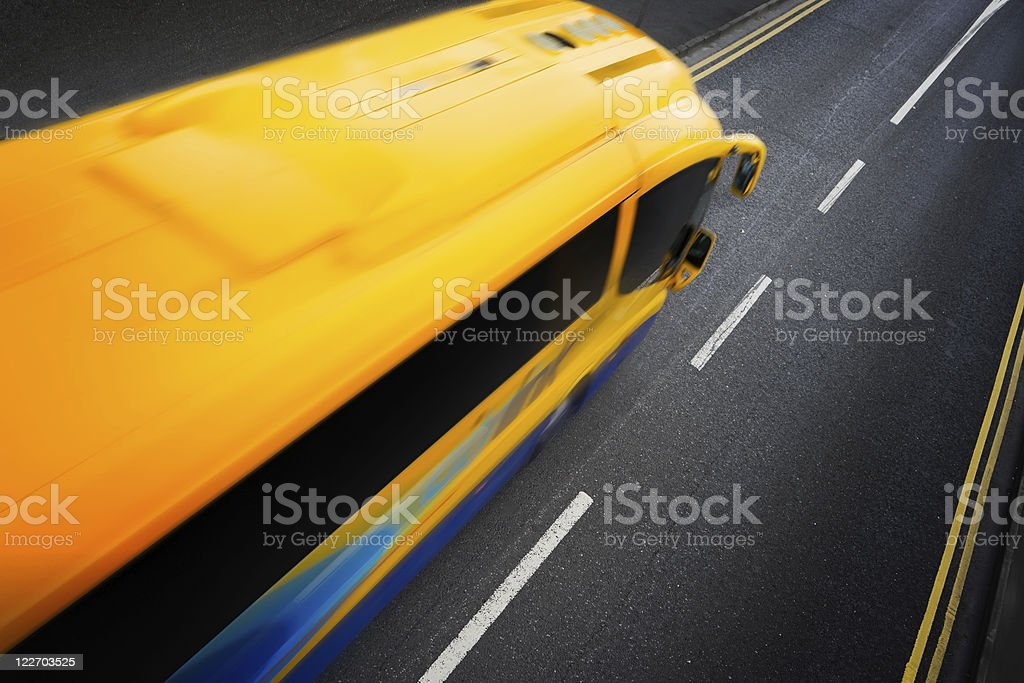 bus in motion royalty-free stock photo