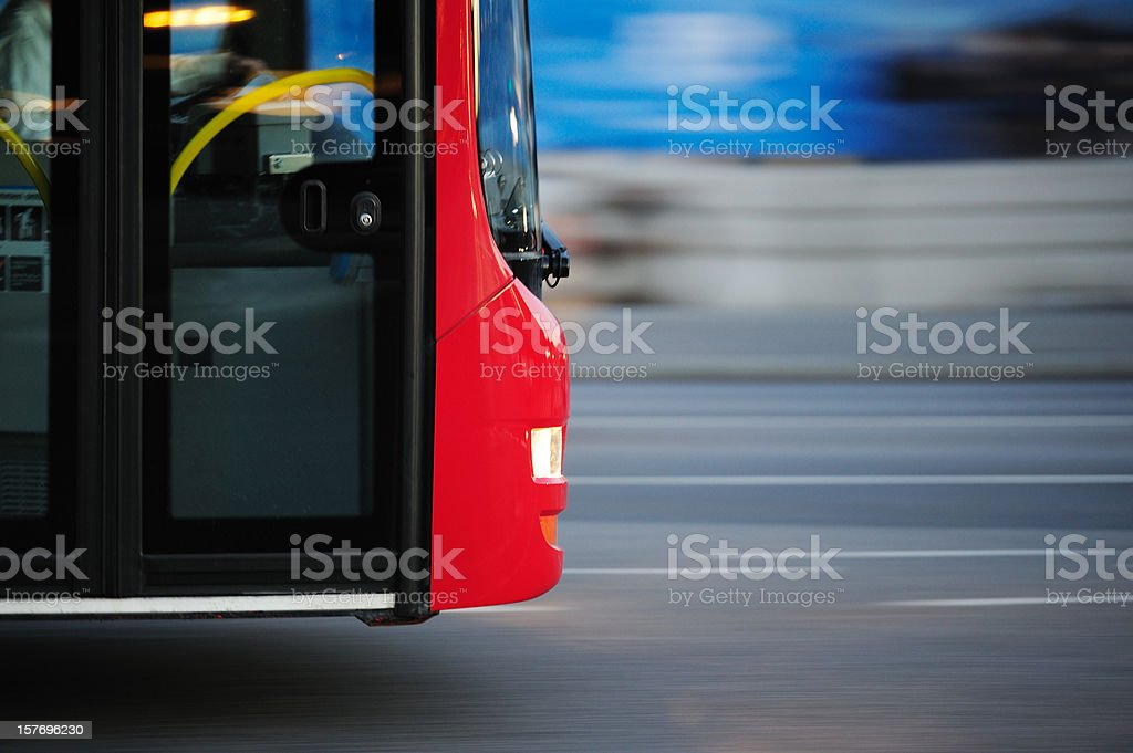 Bus in the city traffic, rush hour royalty-free stock photo