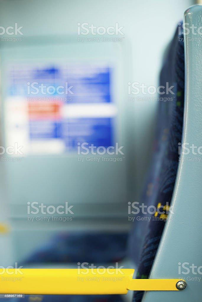 Bus Interior at public transport royalty-free stock photo