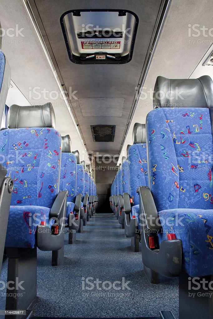 Bus Interior stock photo
