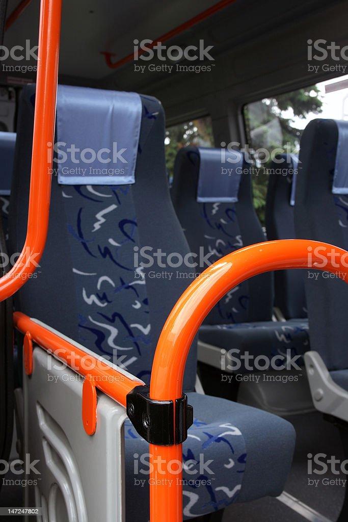 Bus interior. royalty-free stock photo