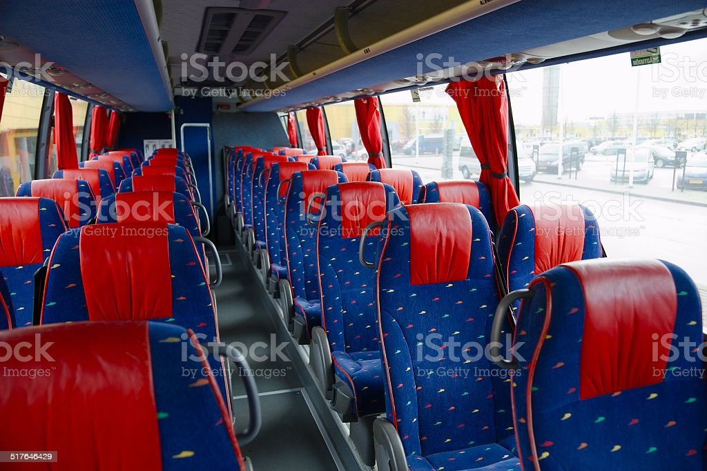 Bus interior stock photo