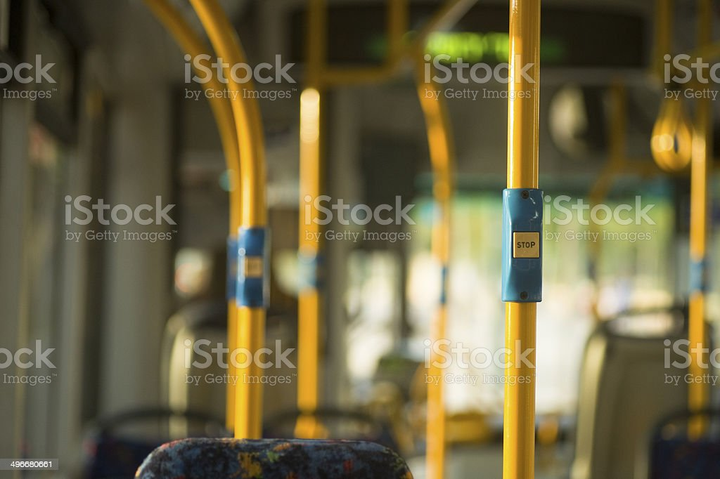 bus interrior stock photo