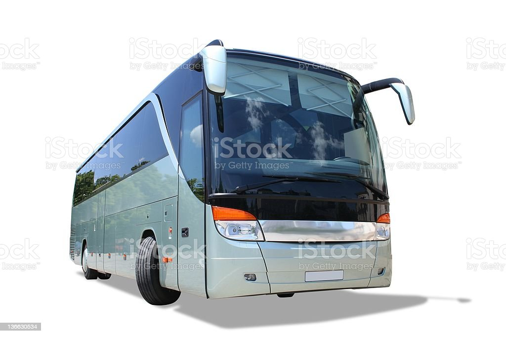 Bus isolated royalty-free stock photo