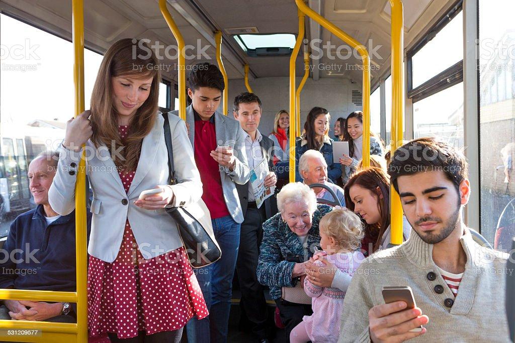 Bus Journey stock photo