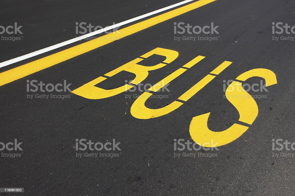 Bus lane royalty-free stock photo