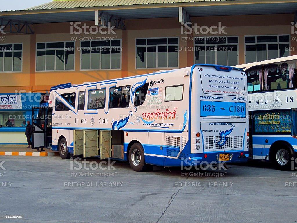 bus no.635-C130  of Nakhonchai tour stock photo