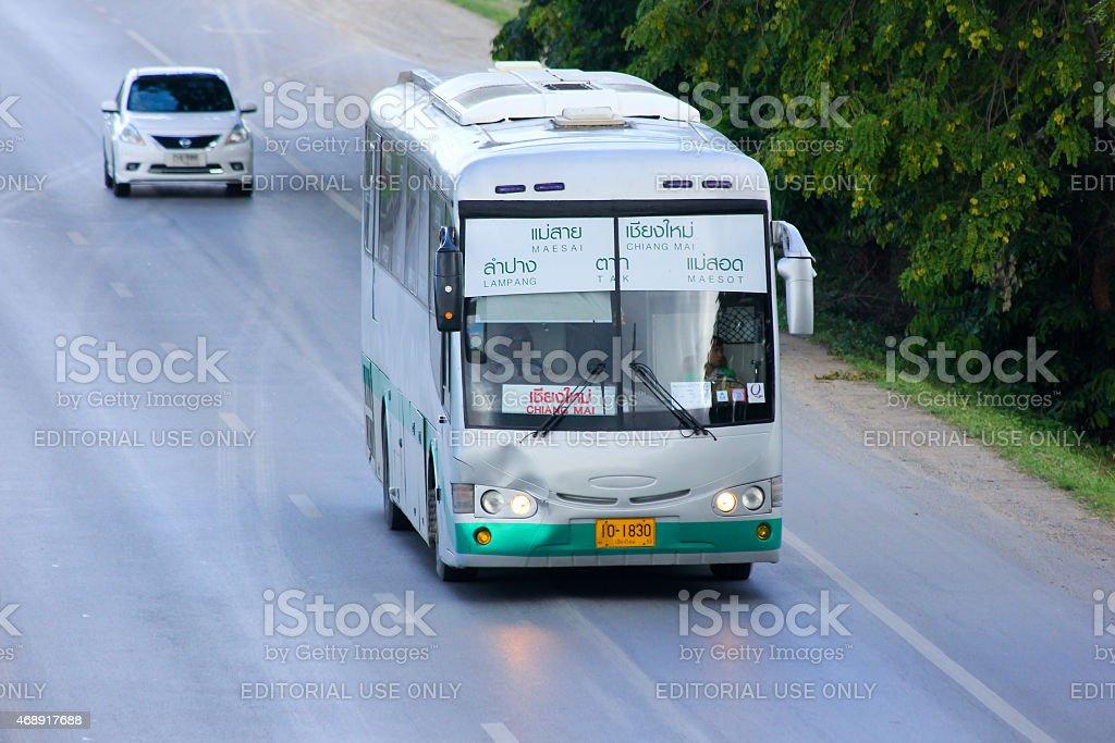 Bus of Greenbus Company stock photo