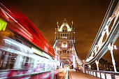 bus on london tower bridge