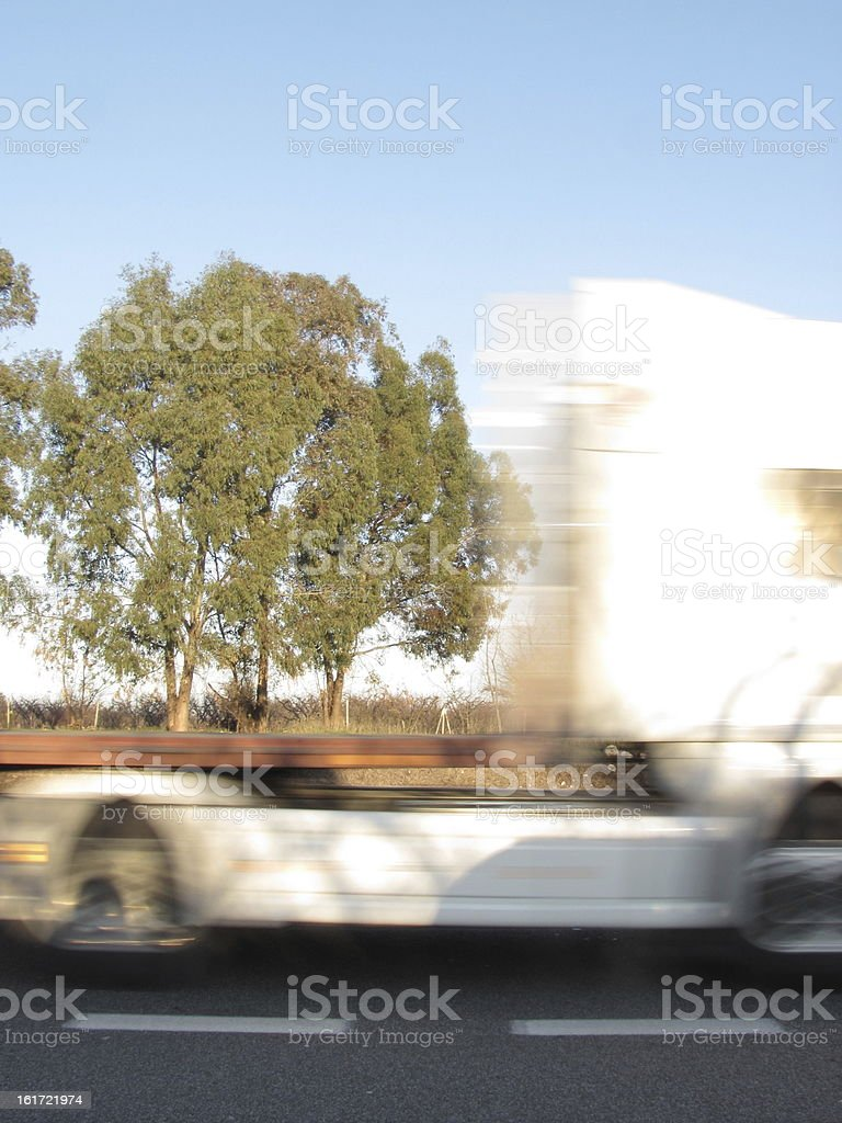 bus on the road royalty-free stock photo