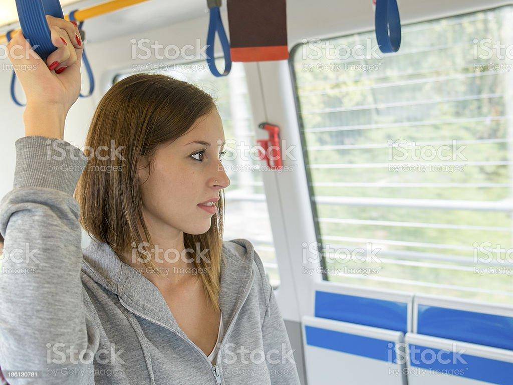 Bus passenger royalty-free stock photo