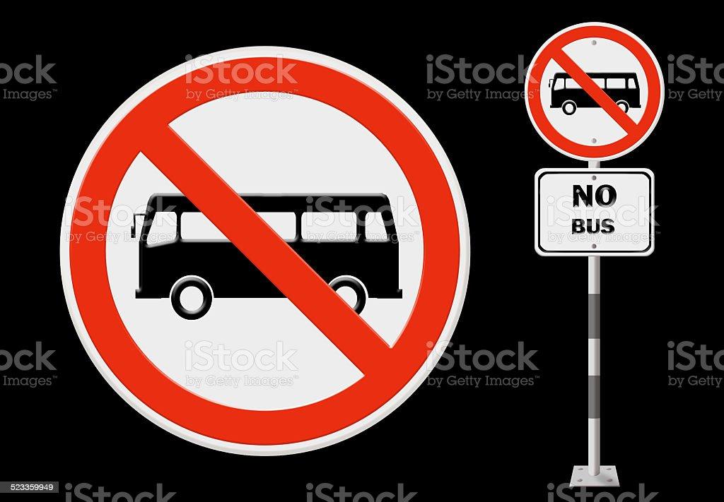 Bus prohibition sign stock photo