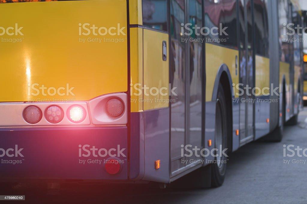 Bus - public transportation stock photo