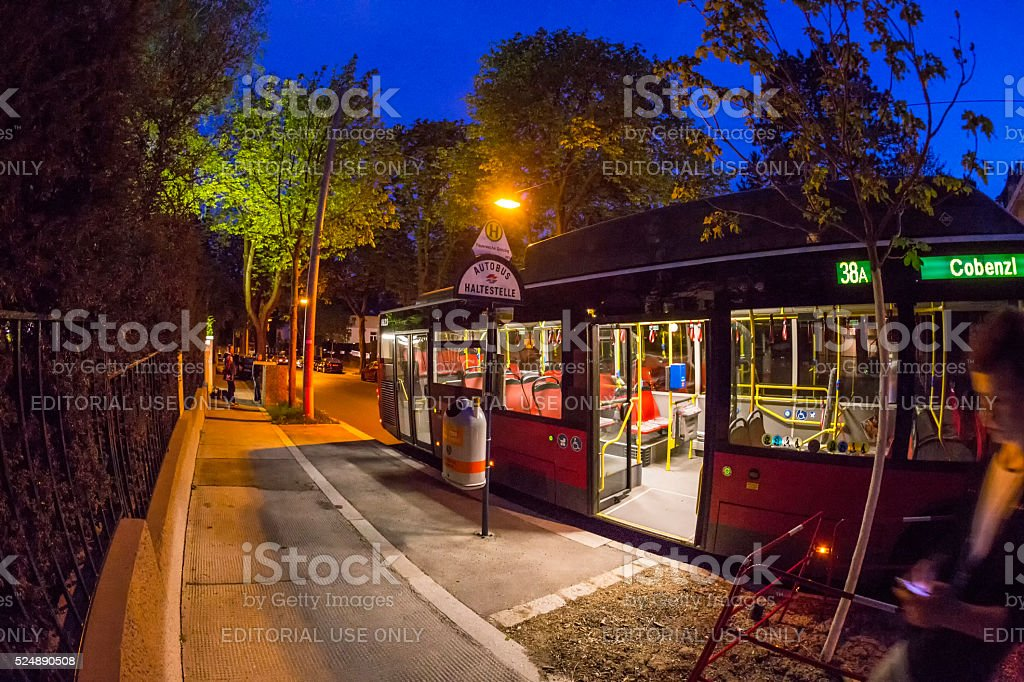 bus  ride in Vienna stock photo