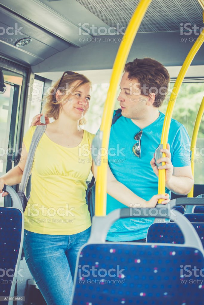 Bus ride stock photo