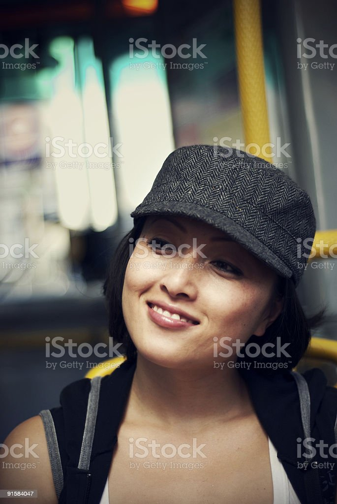 Bus ride royalty-free stock photo