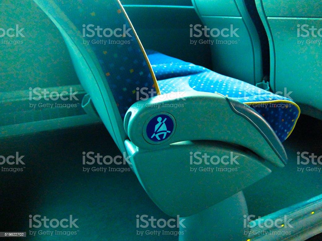 Bus seat stock photo