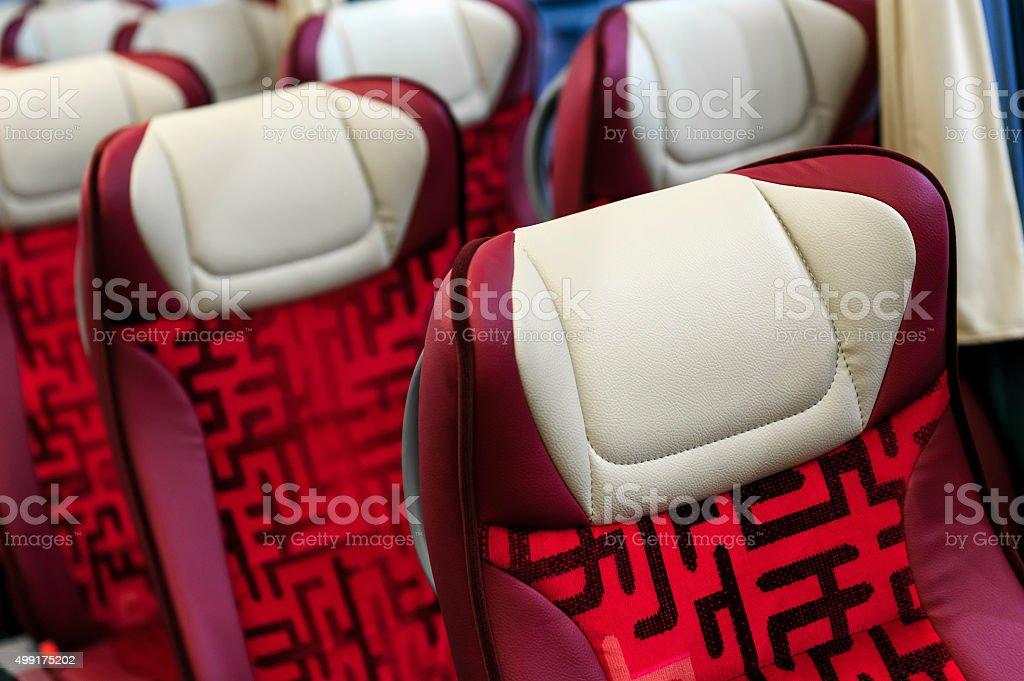 Bus seats stock photo