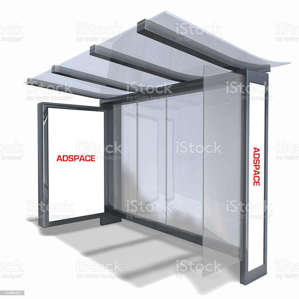 NEW NYC Bus Shelter royalty-free stock photo