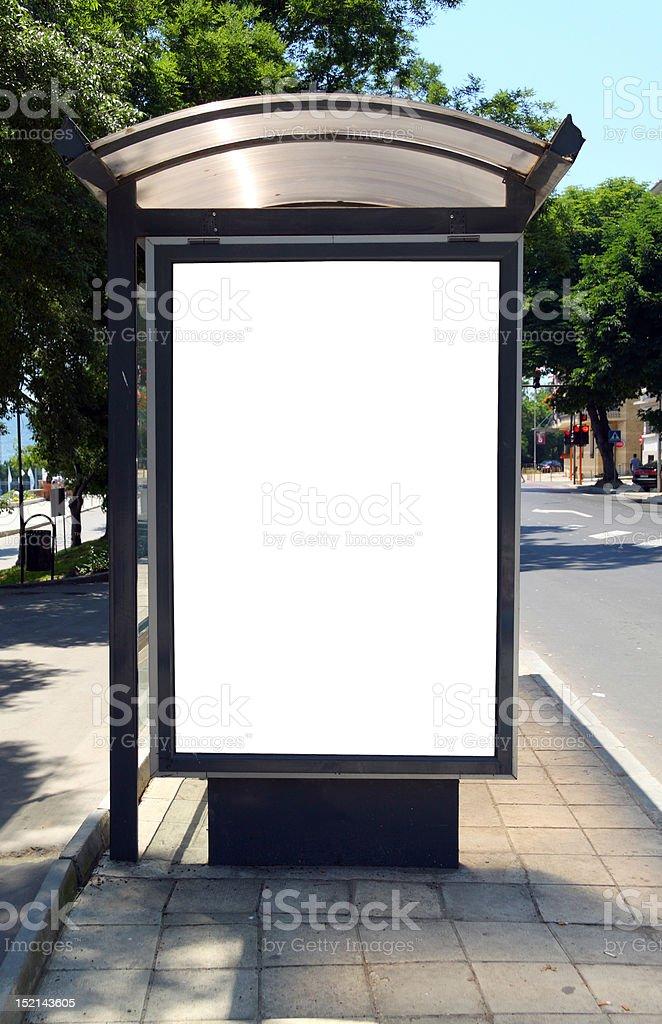 Bus shelter stock photo