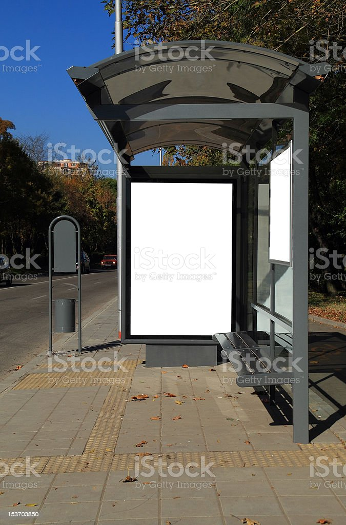 Bus shelter royalty-free stock photo