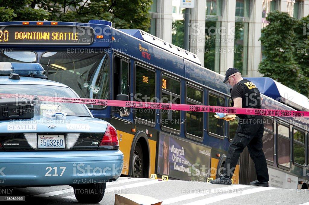 Bus Shooting royalty-free stock photo