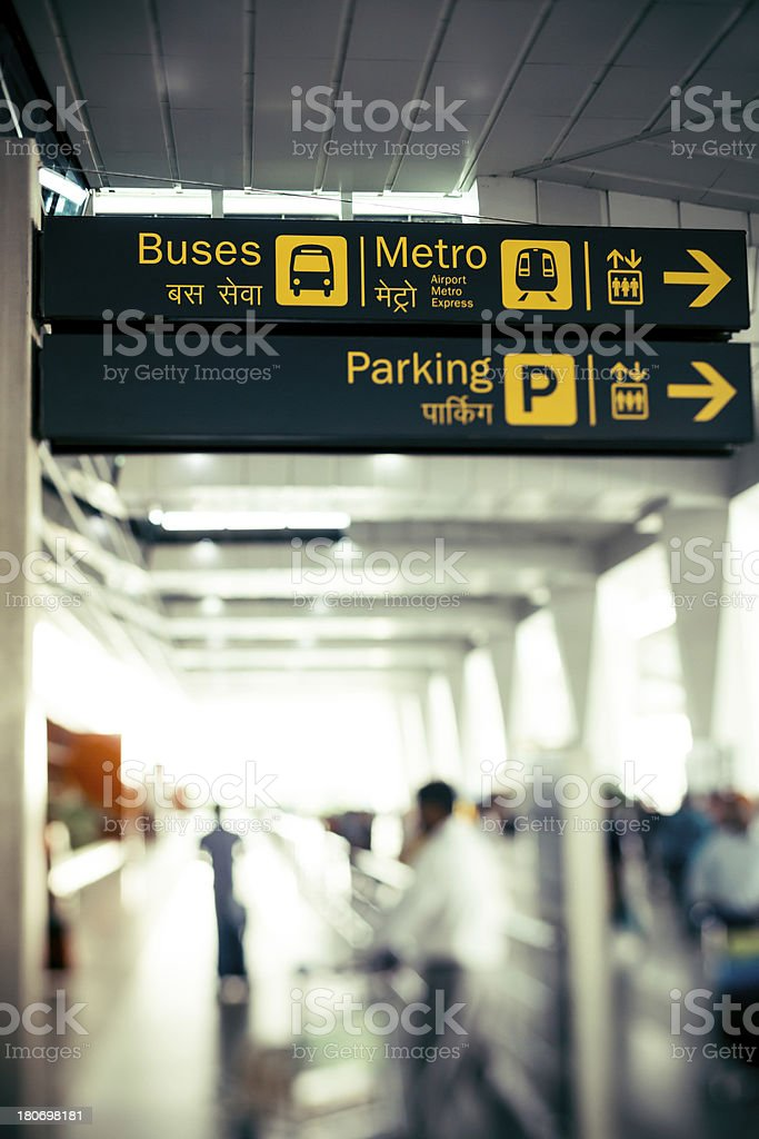 Bus Sign at Airport royalty-free stock photo