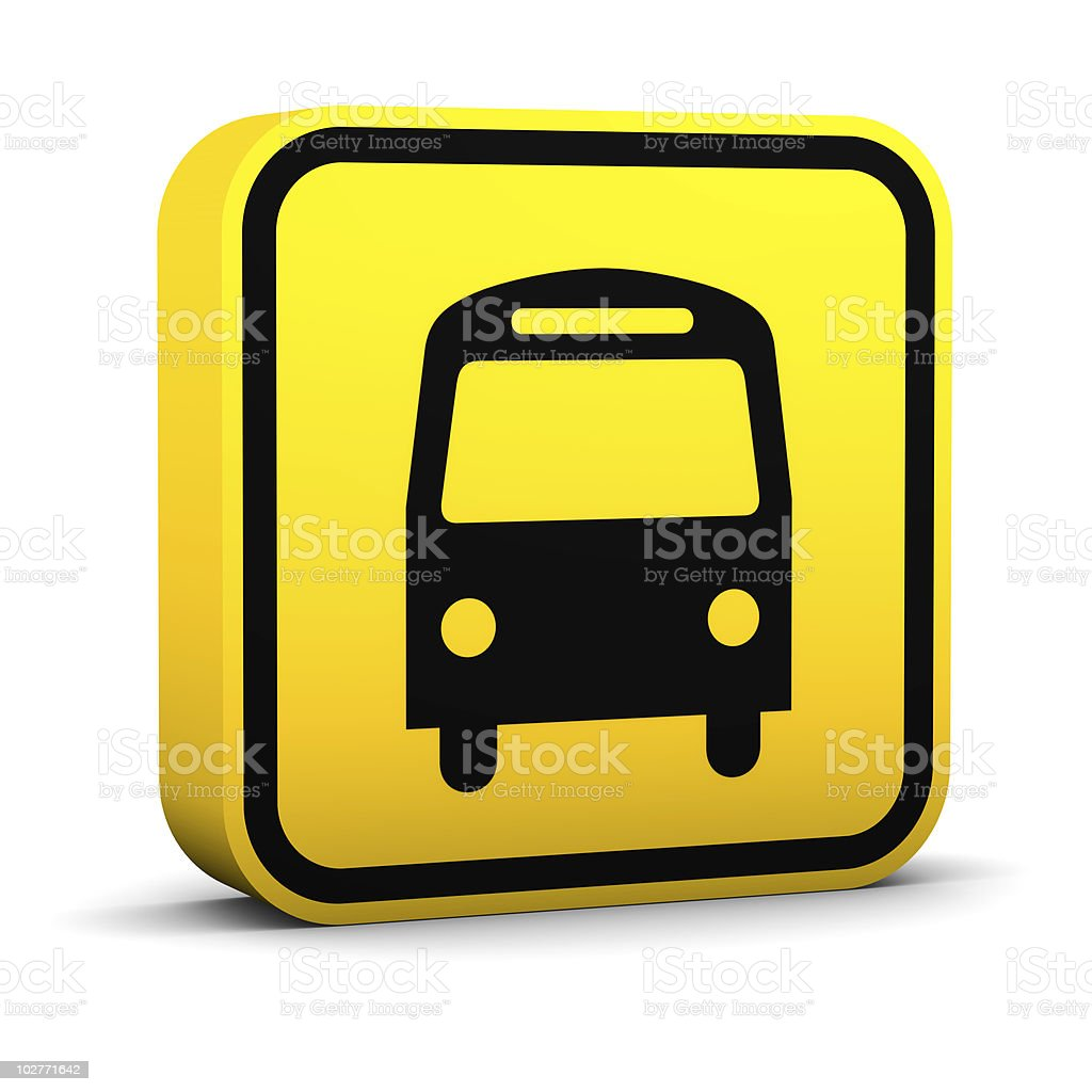 Bus Sign stock photo