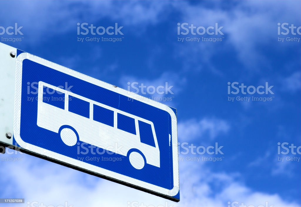 Bus sign royalty-free stock photo