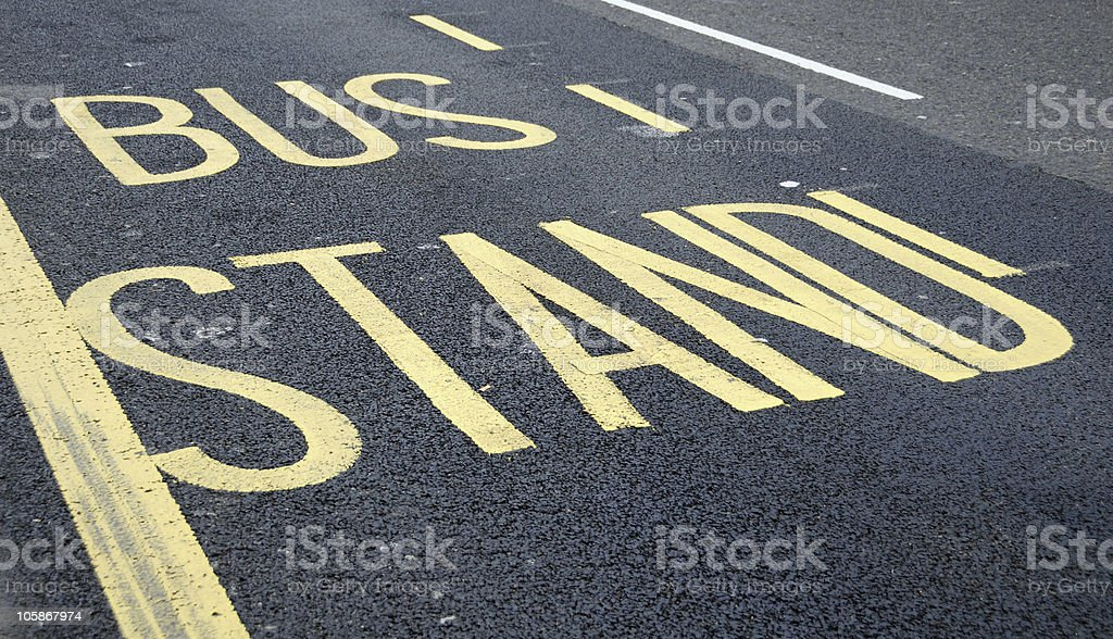 Bus Stand Road Marking royalty-free stock photo